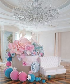 Ask your guests to stuff all the gifts into giant gift box. Decorate the top & all around with flowers & balloons. Don't forget print out a message on it. Pls visit  We~Ivy's Art BootH https://pinterest.com/weivyARTBOOTH to find more & shop gift ideas.