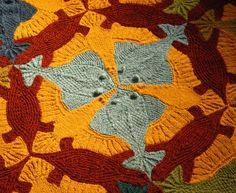 knitted Escher - justblocked on blogspot