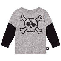 NUNUNU Skull T-Shirt Heather Grey Grå