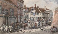 Bull Ring in 1840, by Tarlington.