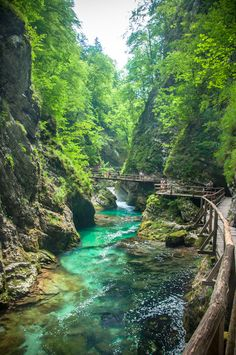 Vintgar Kloof in Slovenia Beautiful Places In The World, Places Around The World, Wonderful Places, Places To Travel, Places To See, Slovenia Travel, Bled Slovenia, Croatia Travel, Voyage Europe