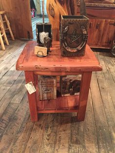 Mesquite side table