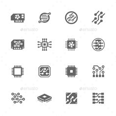 Buy Simple Electronics Icons by davooda on GraphicRiver. Simple Set of Electronics Related Vector Icons. Contains such icons as circuit, processor, microscheme and more. Circuit Board Tattoo, Chip Tattoo, Tech Tattoo, Electronic Tattoo, Icon Design, Logo Design, Simple Electronics, Mobile Logo, Simple Circuit