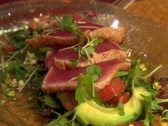 Tuna Tataki Salad recipe from Giada's Weekend Getaways via Food Network