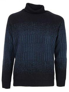 DONDUP Dondup Man Turtleneck Sweater Freeport Shades Of Blue. #dondup #cloth #sweaters