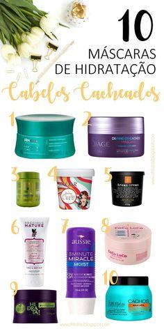 Produtos para cabelos naturais: máscara de tratamento capilar para etapa hidratação do cronograma capilar. Hidratação para fazer em casa com ótimos produtos. Curly hair masks.