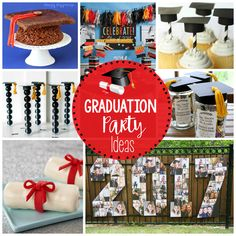 25 Fun Graduation Party Ideas – Fun-Squared These party ideas are perfect for your upcoming graduations! This will add so much to your graduation party! #graduation #graduationparty #partyidea