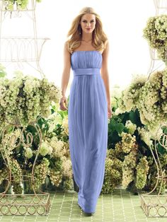 Periwinkle..bridesmaids dresses. I like this style and maybe add a lace sash?? or Tiffany Blue sash?
