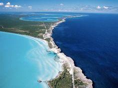 Багамы, карибское море встречается с атлантическим океаном Bahama's