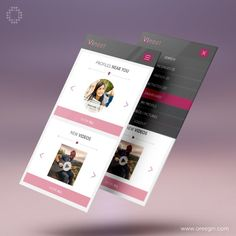 #interfacedesign #userinterface #uidesign #uxdesign #graphicdesign #flatdesign #profile #pinkdesign #pink #appdesign #appdevelopment #iphonedesign