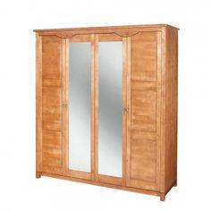 Szafa 4-drzwiowa z lustrem MALAGA