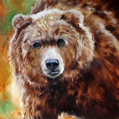 Daily Paintings ~ Fine Art Originals by Marcia Baldwin: Wildlife Original Oil Painting ~ Grizzly Bear ~ Art by Marcia Baldwin Bear Paintings, Wildlife Paintings, Wildlife Art, Oil Paintings, Oil Painting Pictures, Pictures To Paint, Painting Videos, Painting Lessons, Bear Pictures
