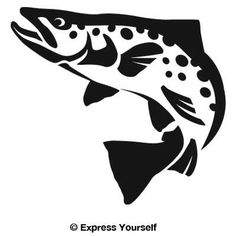 Silhouette Freshwater Fish & Fishing Decals and Stickers