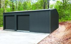 Garage Doors – Types, Considerations, And Ideas – The Homeward View Steel Garage, Garage Shed, Garage Plans, Shed Plans, Garage Ideas, Steel Storage Sheds, Steel Sheds, Shed Storage, Shed Design
