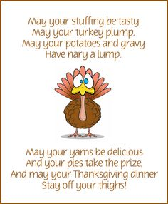 Thanksgiving dinner poem.