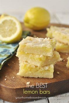 lemon bars recipe. Because when life gives you lemons you do more than make lemonade out of them.