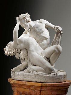 James Pradier, Satyre et bacchante, 1834, marbre, 125 x 112 x 78 cm, Paris, Louvre