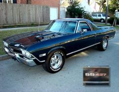 1968 Chevrolet El Camino SS 427 so close to this being my 1st car only metallic blue True story!
