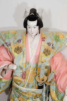 Large Japanese Bunraku Puppet Signed Ningyo Ken I --1940-1960