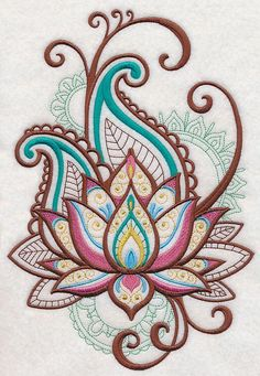 Machine Embroidery Designs at Embroidery Library! – Lotus Machine Embroidery Designs at Embroidery Library! – Lotus This image has get. Mehndi Designs, Tattoo Designs, Tattoo Ideas, Art Designs, Machine Embroidery Designs, Embroidery Patterns, Beginner Embroidery, Tattoo Minimaliste, Bordado Floral