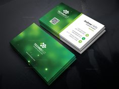 Green Technology Business Card Template 000756