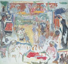 pierre bonnard(1867–1947), street scene (montage of ideas)  [scène de rue décoration comportant des idées de tableaux], c. 1905. oil on canvas 157.0 x 173.0 cm. private collection http://nga.gov.au/bonnard/Detail.cfm?IRN=53482=2