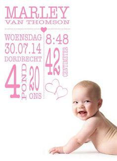 Het moment dat je natuurlijk vast legt!  Geboorte sticker voor zoon en dochter.
