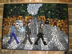 Beatles Abbey Road Glass Mosaic by LittleJewelBoutique on Etsy