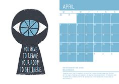 2015 wall calendar   Advice to Sink in Slowly