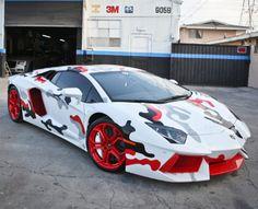 "Chris Brown's ""Fighter Jet"" Foamposite Inspired Lamborghini Aventador"