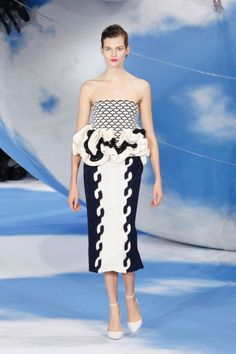 Trend: Black and White, Christian @Dior. #fashion #dress #Dior