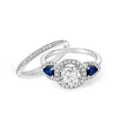 Blue sapphire accents