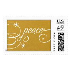 Peace Script - 24 KT Postage
