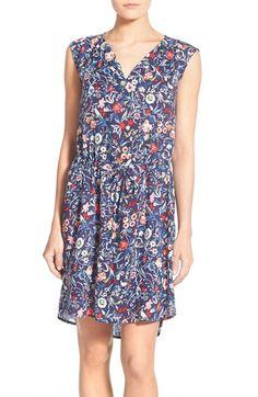 Caslon® Print Easy Sleeveless Dress (Regular & Petite) available at #Nordstrom