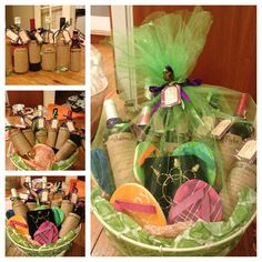 Wedding shower well wishes wine basket Wine Baskets, Pageant, Diana, Cocktails, Presents, Make It Yourself, Crafty, Shower, How To Make