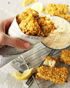 Crispy Baked Fish Sticks with Greek Yogurt Tartar Sauce. Summer is calling!