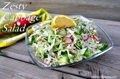 Easy Delicious Summer Salad!!!! Cabbage Salad, Summer Salads, Tossed, My Recipes, Vegetables, Easy, Food, Coleslaw, Veggies