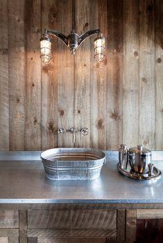 Rustic house design- washbasin