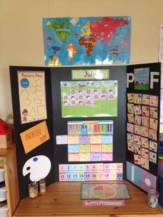 Mother Goose Time transportable circle time board. #PreschoolCircleTime #MotherGooseTimeBulletinBoards