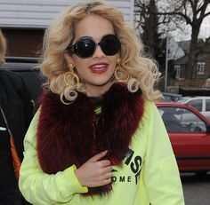 Rita Ora visits Flamin Eight Tattoo Studio in Camden and gets a small Tattoo on her finger saying 'Hope' on February 15, 2013