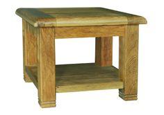 Calgary Aged Oak Square Lamp Table with Shelf - Indian Furniture Weathered Oak, Oak, Table, Oak Lamp, Furniture, Shelves, Interior, Indian Furniture, Beautiful Furniture