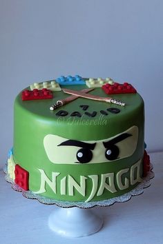 Lego Fun - Lego Ninjago — Wayne Wonder Children's Parties in Gloucestershire Lego Ninjago Cake, Ninjago Party, Lego Cake, Superhero Cake, Minecraft Cake, Ninja Birthday, Lego Birthday Party, Birthday Parties, Cake Birthday