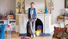 """Organised bohemia is how fashion designer Matthew Williamson laughingly refers to his interiors style, as he points to the hallway painted in a sea of neon pink. """"This place has great scale and bones, which I found immediately attractive when I first saw the apartment three-and-a-half years ago,"""" he says. """"It might look like it has all been thrown together, but actually, everything is in its place."""""""