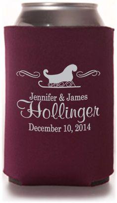 Seasonal Designs Wedding Can Coolers #wedding #koozies good for wedding party goody bags