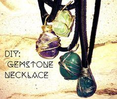 DIY: Gemstone Necklace   Sophia Rose - gemstone necklaces - http://jewelry.airgin.org/necklaces/diy-gemstone-necklace-sophia-rose-gemstone-necklaces/