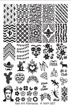 Foot Pedicure, Manicure Y Pedicure, Nail Art Stencils, Stencil Art, Doodle Patterns, Line Patterns, Barn Quilt Designs, Quilting Designs, Dream Catcher Vector