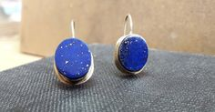 GALLERY Handmade: Gold earings Lapis