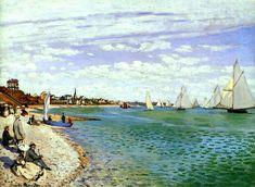 Regatta at Sainte-Adresse, 1867, Claude Monet