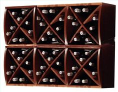 A diamond wine rack adds a nice touch of class to any room and can easily be accomplished using a regular bookshelf that you may already have. If you have access to a table saw. Homemade Wine Rack, Wine Rack Plans, Built In Wine Rack, Wine Rack Wall, Wine Racks, Wine Subscription, Cheap Wine, Personalized Wall Art, Wine Cabinets