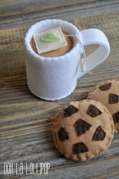 Felt Hot Chocolate Set with Interchangeable Tea
